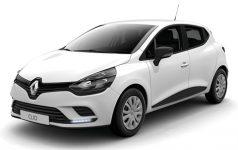 Снимка на RENAULT CLIO IV в бял цвят на бял фон