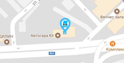 Google maps упътване до офиса на Rent and Go в град Пловдив