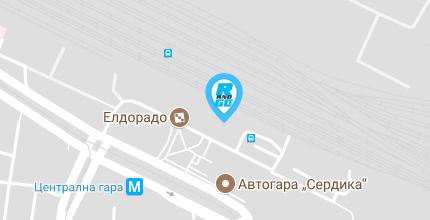 Google maps упътване до офиса на Rent and Go в град София