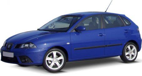 Снимка на SEAT IBIZA 2007 година в син цвят на бял фон